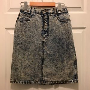 Vintage Acid Wash Denim Skirt size 7